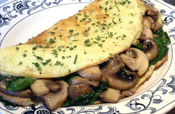 Cheesy Mushroom Spinach Omelet